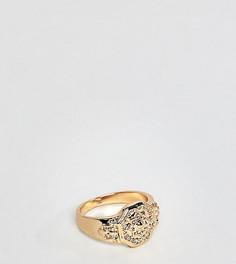 Золотистое кольцо-печатка на мизинец DesignB эксклюзивно для ASOS - Золотой