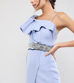 Широкий пояс с декоративной отделкой TFNC WEDDING - Темно-синий