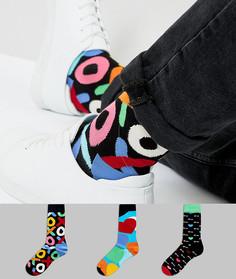 3 пары носков в подарочной упаковке Happy Socks - Мульти