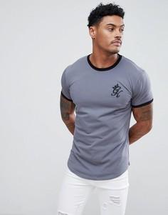 Серая обтягивающая футболка Gym King - Серый