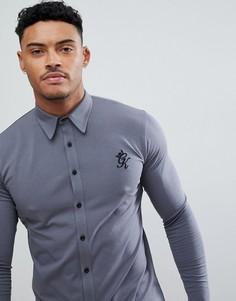 Серая обтягивающая рубашка Gym King - Серый