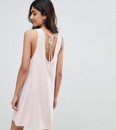Платье А-силуэта без рукавов с завязкой на спине Glamorous Tall - Розовый