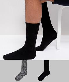 2 пары толстых носков Calvin Klein - Черный