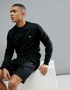 Черный свитер Lyle & Scott Fitness Braid SUIT 1 - Черный