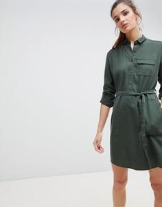 Платье-рубашка с поясом Jack Wills Helford - Зеленый
