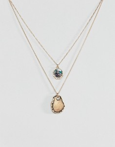 Ожерелье в несколько рядов ASOS - Золотой