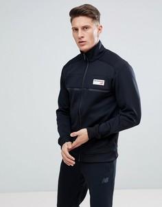 Черная спортивная куртка в стиле ретро New Balance MJ81551_BK - Черный