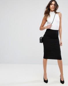 Трикотажная юбка-карандаш ASOS - Черный