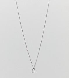 Серебряное ожерелье с подвеской-замком DesignB London - Серебряный