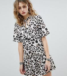 Свободное платье с леопардовым принтом Milk It Vintage - Кремовый