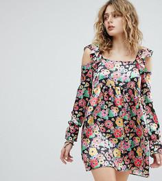 Платье с квадратным вырезом и цветочным принтом Milk It Vintage - Мульти