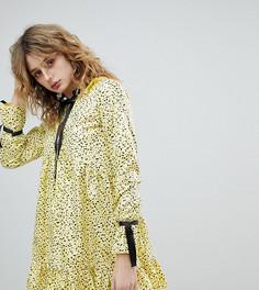 Платье в крапинку с завязкой на шее Milk It Vintage - Желтый