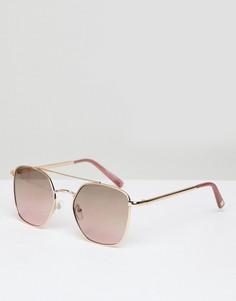 Солнцезащитные очки в стиле 90-х River Island - Золотой