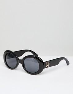 Овальные солнцезащитные очки в стиле 90-х River Island - Черный