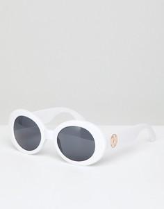 Овальные солнцезащитные очки в стиле 90-х River Island - Белый