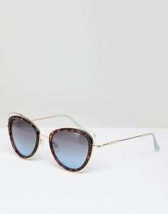Черепаховые солнцезащитные очки кошачий глаз River Island - Черный