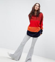 Расклешенные трикотажные брюки в рубчик Rokoko - Серый