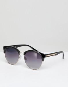 Солнцезащитные очки в стиле ретро River Island - Черный