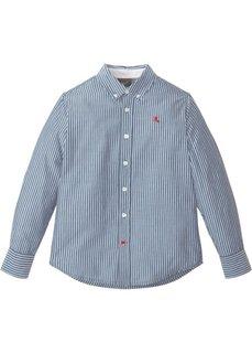 Рубашка с длинным рукавом в полоску (синий/белый в полоску) Bonprix
