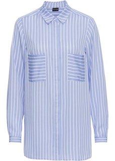 Туника − классика гардероба (белый/синий в полоску) Bonprix