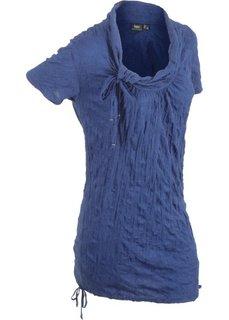 Удлиненная футболка с коротким рукавом (темно-синий) Bonprix