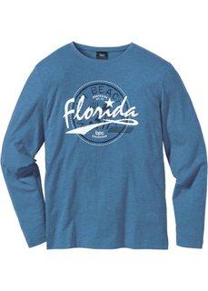 Футболка Regular Fit с длинным рукавом (синий джинсовый меланж) Bonprix