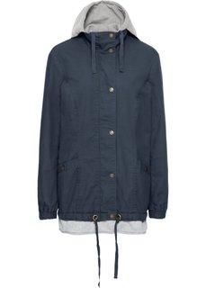 Куртка демисезонная, имитация 2 в 1 (ночная синь) Bonprix