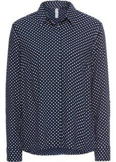 Блузка (темно-синий в белый горошек) Bonprix