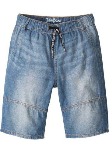 Бермуды джинсовые, стандартный (синий «потертый»)