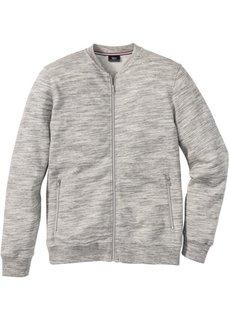 Куртка из трикотажа Regular Fit (серый меланж) Bonprix