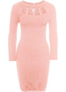 Платье вязаное (розовый) Bonprix