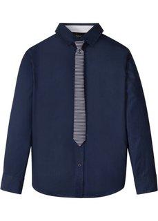 Рубашка с галстуком (2 изд.) (темно-синий) Bonprix