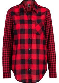 Рубашка в клетку (красный/черный в клетку) Bonprix