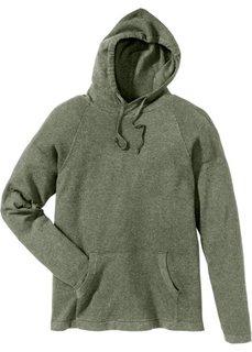 Пуловер Regular Fit с капюшоном (оливковый) Bonprix