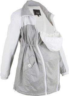 Куртка для будущих мам со вставкой для малыша (светло-серый) Bonprix