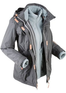 Куртка функциональная 3 в 1 (шиферно-серый) Bonprix