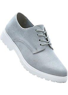 Туфли на шнуровке (светло-серый) Bonprix