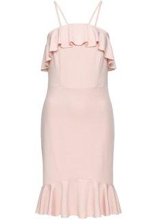 Платье с воланами (розовый) Bonprix