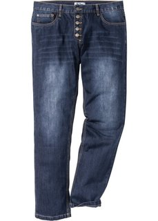 Джинсы на пуговицах Regular Fit Straight, cредний рост (N) (темно-синий) Bonprix