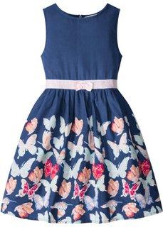 Платье с узором с бабочками (полуночная синь с рисунком) Bonprix