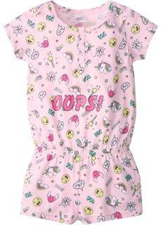 Пижама-комбинезон (нежно-розовый меланж) Bonprix