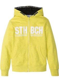 Куртка из трикотажа с капюшоном (желтый меланж) Bonprix