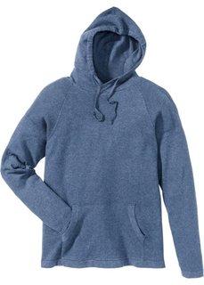 Пуловер Regular Fit с капюшоном (синий джинсовый) Bonprix