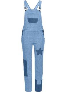Комбинезон джинсовый (голубой) Bonprix