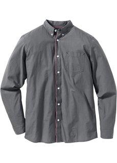 Рубашка Regular Fit с длинным рукавом (дымчато-серый) Bonprix