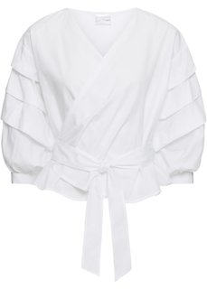 Блузка с эффектом запаха (белый) Bonprix