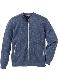 Куртка из трикотажа Regular Fit (темно-синий меланж) Bonprix