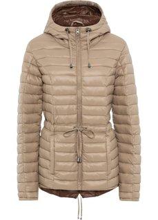 Куртка стеганая легкая (бежевый/коричневый) Bonprix