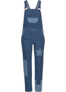 Комбинезон джинсовый (синий «потертый») Bonprix