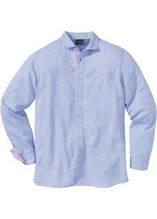 Рубашка Regular Fit с длинным рукавом (синий с узором) Bonprix